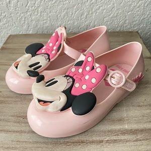 Mini Melissa Minnie Mouse Pink Flats